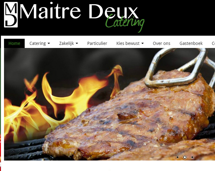 Maitre Deux Website Screenshot 1